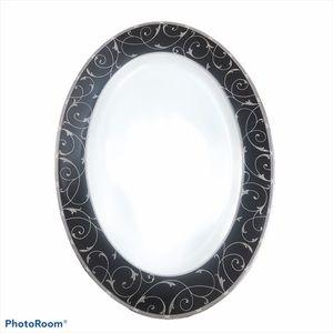 Mikasa Elegant Scroll Platter Bone China